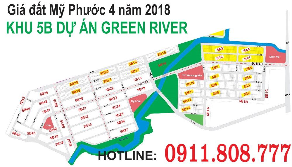 Giá đất Mỹ phước 4năm 2018khudự án Green River
