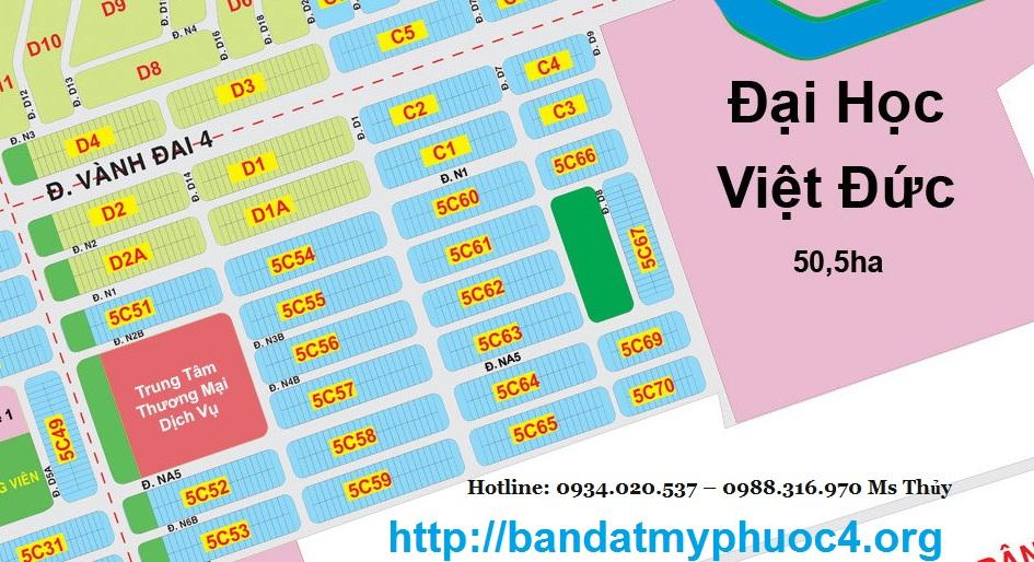 Cần mua đất nền gần khu Đại Học Việt Đức Bình Dương