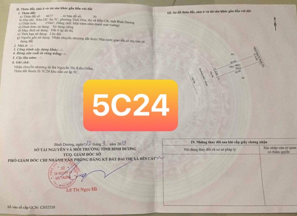 Lô 5C24 Mỹ Phước 4